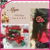 2015 christmas kids unique bowknot hair accessories