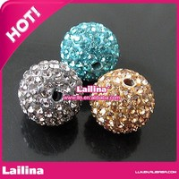Best Sell shamballa beads pave beads Crystal Rhinestone beads