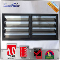 New arrival adjustable blinds sound insulation fixed louver windows with 30-40 years lifespan