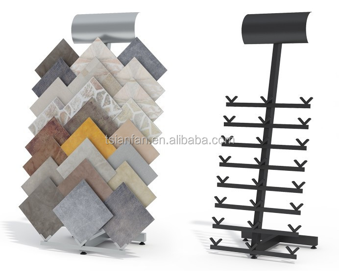 cj14 003 simple metal tile sample display shelf board for. Black Bedroom Furniture Sets. Home Design Ideas