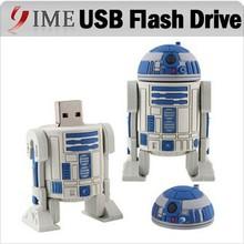 Real Capacity USB Star War R2D2 Robot Cartoon USB Flash Drive 4GB 8GB 16GB 32GB 64GB USB2.0 Pendrive pen drive U Disk usb stick