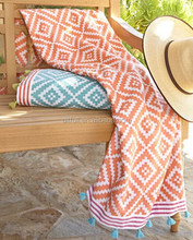 Wholesale alibaba 100% cotton jacquard super absorbent beach towel with fouta and private label