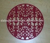 silicon decaling red coaster