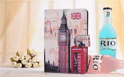 Retro PU Leather Smart Cover Case For 7inch tablet Fashion Paris Effiel Tower Big Ben White House Tablet PC Case