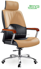 New design Office high back swivel executive chair with wooden armrest-9237