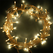 Pathway light led patio string lights battery strings super bright 10m 100 led outdoor rubber wire string light