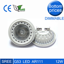 New trend 12 watt 3000K g53 gu10 es111 led ar111 cob spotlight