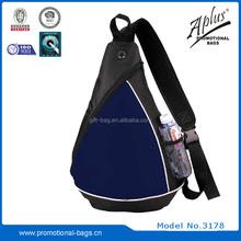 600D one side mesh pocket sling bag