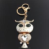 Hot Live Animal Metal Keychain, 3D Toy Metal Owl KeyChain