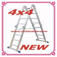 super 4*4 steps Mutil-purpose Aluminium Ladder with small hinger
