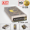 Factory price 24v 6a constant voltage dc power supplies for LED 145W