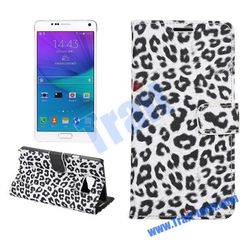 Leopard Pattern Wallet Style Card Holder phone case, Flip Stand PC+PU Case for Samsung Galaxy Note 5 N9200