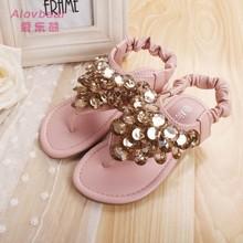 2015 NEW fashion wholesale summer shose sandals 2015 women shiny flat shoes P L01-18
