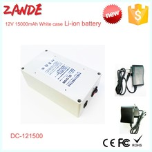 Outlet Super Power New Dc 12v Portable 15000mah Li-ion Rechargeable Battery in white case