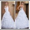 Ruffled Bottom Lace Up Back Floor Length Custom Make Long Formal Bridal Design Robe De Mariee HS162 halter top wedding dresses