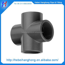 Cheap and high quality Plastic injection pvc cross fitting