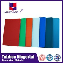 Alucoworld Offering Quality Plastic 4x8 acp sheet Aluminum Composite Panel indoor partition material acp walls panels