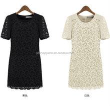 2015 new summer fashion lace stitching slim dress