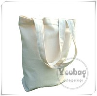 plain white organic cotton fabric bags wholesale