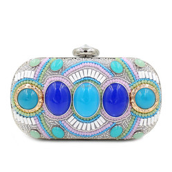 Customized Top quality indian style beaded clutch bag drop shipping 11501