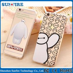 Baymax mascot case, silicon rubber case, transparent plastic case