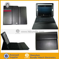 leather case for ipad 2 3 4 with wireless keyboard