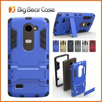 Kickstand tpu pc cell phone case for lg leon c40