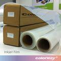 De inyección de tinta transparente mate PET de cine para pantalla sedoso impresión, 100 mic y no impermeable