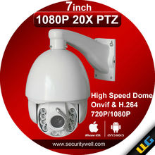 """20X 1080P PTZ Camera, 7"""" high speed dome with Wiper both day night vision good for outdoor security"""