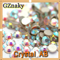 Crystal AB ss20 non hotfix rhinestones flatback round glass beads need glues to attach