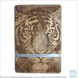 2015 Newest trendy laser engraved bamboo wood case for ipad air
