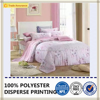 comfortable bedding sets floral printing polyester brushed fabric