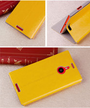 Top Grade Leather Flip Stand Case for Nokia 1520 Case Cover (Yellow)