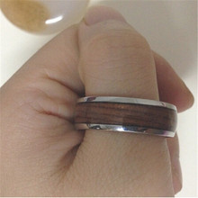 Yiwu Aceon Stainless Steel New Fashion Stock Jewelry Men's Wood Ring