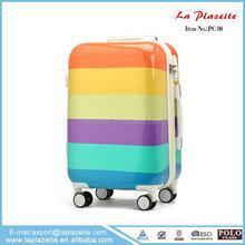 colorful luggage, luggage trolley, cute girls luggage