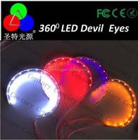"2pcs Devil Angel eyes 360 dgree headlight made in China 3"" inch angel eyes all size CENTURY"