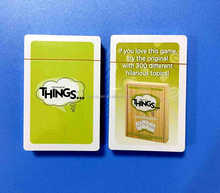 Cheap new design unique card games in china