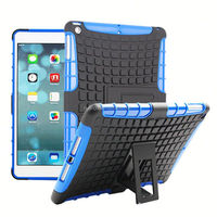 Low MOQ PC+silicone silicon case for apple ipad air best price