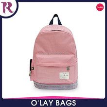 2015 Hot sale solid color school backpack bag canvas fabric