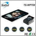 Saful ts-wp708 7'' de vídeo inalámbrico teléfono de la puerta/puerta sistema de intercomunicación