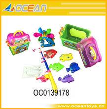 nueva venta caliente magnético juego de la pesca de peces de plástico de juguete magnético juego de la pesca juguetes oc0139178