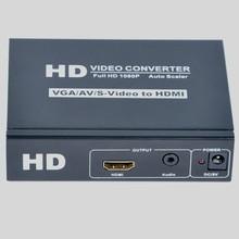 S-Video VGA RCA/CVBS/AV to HDMI converter