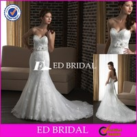 MH108 Lace Applqiued Lace With Train Mermaid Latest Design German Wedding Dresses