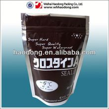 custom doypack reclosable plastic bag for seed packaging