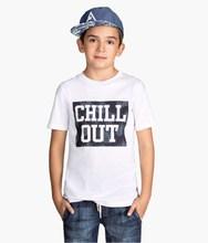 Boys organic cotton tshirt with Printed Design