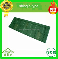 africa colorful roofing material stone chip coated metal roof tile