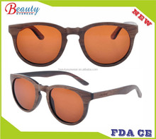 Polarized brown lens custom wooden oem eyewear