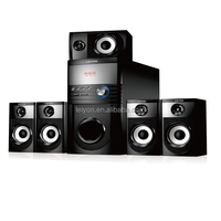 Stereo sound (Model: LY-HT601)5.1ch multimedia home cinema speaker system 35W with Bluetooth/USB/SD/FM radio/AUX/remote control