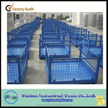 excellent quality Foldable rigid mesh box for warehouse