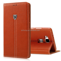 Xundd Brand Genuine Leather Flip Smart Cover Case For Huawei Ascend Mate 7